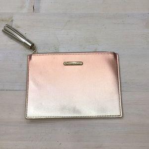 Michael Kors NWOT metallic zipper pouch